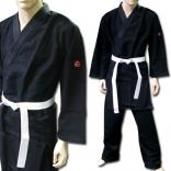 judo/jujitsu uniform single weave Black